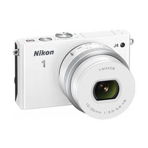 ニコン レンズ交換式アドバンストカメラ Nikon 1 J4 標準パワーズームレンズキット ホワイト N1J4HPLKWH - 拡大画像