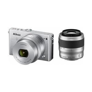 ニコン レンズ交換式アドバンストカメラ Nikon 1 J4 ダブルズームキット シルバー N1J4WZSL - 拡大画像