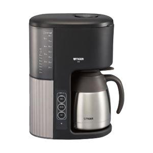 タイガー魔法瓶 マイコンコーヒーメーカー ステンレスサーバータイプ カフェブラック ACE-M080KQ - 拡大画像
