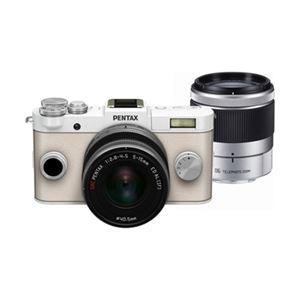 ペンタックス プレミアムスモールデジタル一眼カメラ Q-S1 ダブルズームキット ピュアホワイト Q-S1(PW)WZK - 拡大画像