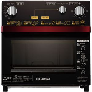 アイリスオーヤマ ノンフライ熱風オーブン レッド FVH-D3A-R