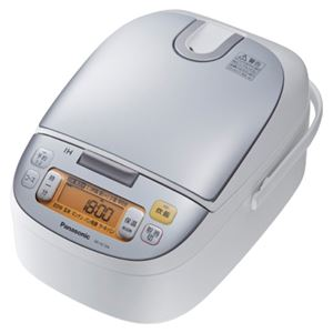 パナソニック(家電) IHジャー炊飯器 1.44L (シルバーホワイト) SR-HC154-W - 拡大画像