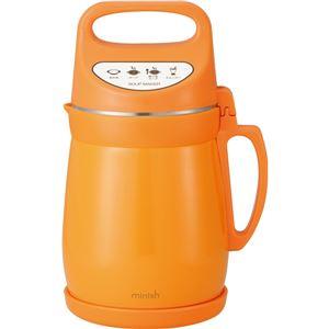 ドウシシャ スープメーカー真空2層ポット DSMW-148OR オレンジ 395389 - 拡大画像