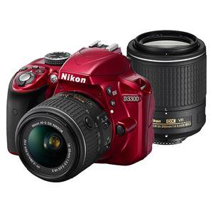 ニコン デジタル一眼レフカメラ D3300 ダブルズームキット2 レッド D3300WZRD2 - 拡大画像