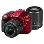 ニコン デジタル一眼レフカメラ D3300 ダブルズームキット2 レッド D3300WZRD2