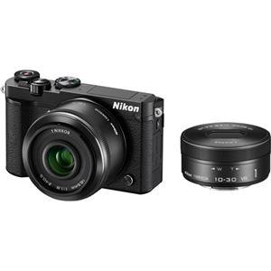 ニコン レンズ交換式アドバンストカメラ Nikon 1 J5 ダブルレンズキット ブラック N1J5WLKBK