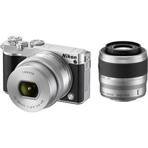 ニコン レンズ交換式アドバンストカメラ Nikon 1 J5 ダブルズームレンズキット シルバー N1J5WZSL