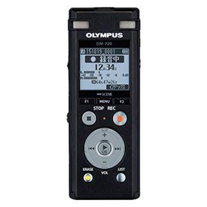 オリンパス ICレコーダー Voice-Trek (ブラック) DM-720 BLK - 拡大画像