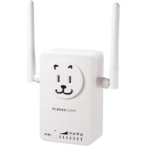プラネックスコミュニケーションズ 11ac/n/a/g/b対応 433Mbps+300Mbps コンセント直挿型 無線LAN中継機「忠継大王」 MZK-EX750NP - 拡大画像