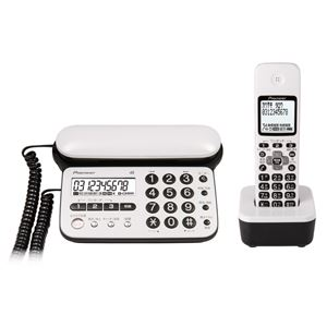 パイオニア デジタルコードレス留守番電話機(子機1台) ピュアホワイト TF-SD15S-PW