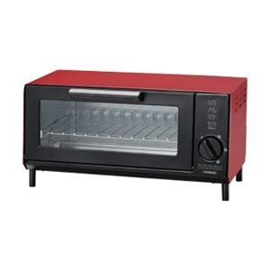 ツインバード工業オーブントースター(レッド)TS-4034R