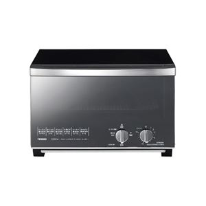 ツインバード工業 ミラーガラスオーブントースター (ブラック) TS-D047B