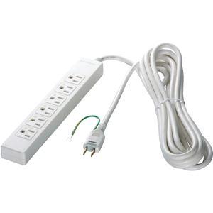 バッファロー(サプライ) 3ピン式電源タップ 6個口タイプ 2m ホワイト BSTAPST3620WH - 拡大画像