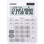 カシオ計算機 カラフル電卓 10桁 ピュアホワイト MW-C11A-WE-N