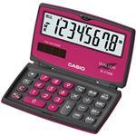 カシオ計算機 カラフル電卓 折りたたみ手帳タイプ 8桁 ベリーピンク SL-C100B-BR-N