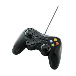エレコム12ボタンUSBゲームパッド/Xinput対応/振動・連射機能付/ブラックJC-U3613MBK