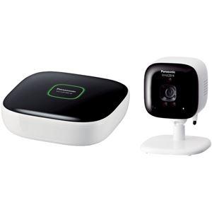 パナソニック(家電) ホームネットワークシステム 屋内カメラキット(親機+屋内カメラ)(ホワイト) KX-HJC200K-W - 拡大画像