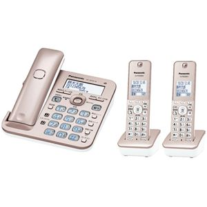 パナソニック(家電) コードレス電話機(子機2台付き)(ピンクゴールド) VE-GD55DW-N