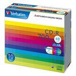 三菱ケミカルメディア CD-R 700MB PCデータ用 48倍速対応 10枚スリムケース入り ワイド印刷可能 SR80SP10V1