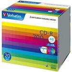 三菱ケミカルメディア CD-R 700MB PCデータ用 48倍速対応 20枚スリムケース入り ワイド印刷可能 SR80SP20V1