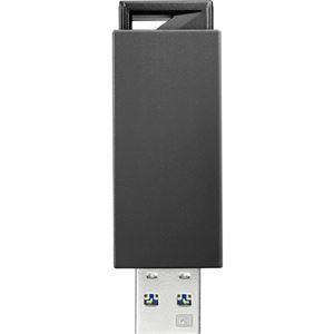 アイ・オー・データ機器 USB3.0/2.0対応 ノック式USBメモリー 32GB ブラック U3-PSH32G/K