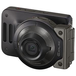 カシオ計算機 デジタルカメラ FREE STYLE EXILIM EX-FR110H ブラック EX-FR110HBK - 拡大画像