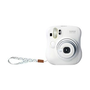 富士フイルム インスタントカメラ instax mini 25 チェキ (ホワイト)純正ハンドストラップ付き INS MINI 25 WT N