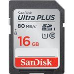 サンディスク ウルトラ プラス SDHC UHS-I カード 16GB SDSDUSC-016G-JNJIN