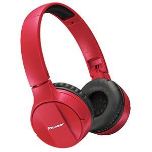 パイオニア Bluetoothヘッドホン レッド SE-MJ553BT-R