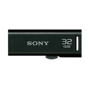 SONY USB2.0対応 スライドアップ式USBメモリー ポケットビット 32GB ブラックキャップレス USM32GR B