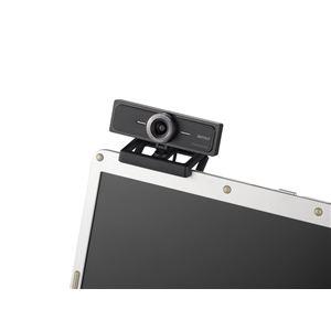 バッファロー マイク内蔵200万画素WEBカメラ 120°広角ガラスレンズ搭載モデル ブラック BSW200MBK