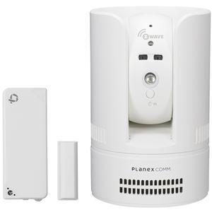 プラネックスコミュニケーションズ 無線センサー対応 パン・チルト ネットワークカメラ・4in1多機能センサーセット(ドア開閉/温度/湿度/照度) CS-W72Z-K1 - 拡大画像