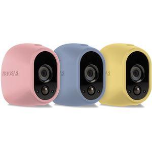 NETGEAR Inc. Arlo スマートホーム ワイヤレスネットワークセキュリティカメラ(屋外設置可能)用マルチカラーシリコンスキン(パステルカラー) VMA1200C-10000S - 拡大画像
