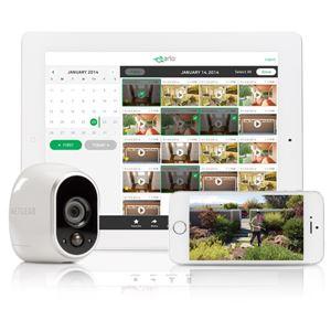 NETGEAR Inc. Arlo 100%ワイヤレス電池駆動ネットワークカメラ(増設用カメラ1台) 防犯対策 家族ペット見守り スマホで簡単設定 -繋いで、おとして、プッシュ- VMC3030-100JPS 商品画像