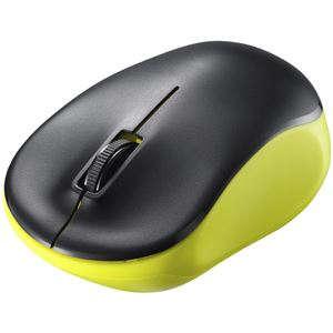 バッファロー(サプライ) 無線(2.4GHz) IR LED光学式マウス 3ボタン/電池長持ち ライム BSMRW100LM