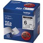 ブラザー工業 TZeテープ ラミネートテープ(白地/黒字) 6mm 5本パック TZe-211V