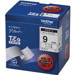 ブラザー工業 TZeテープ ラミネートテープ(白地/黒字) 9mm 5本パック TZe-221V