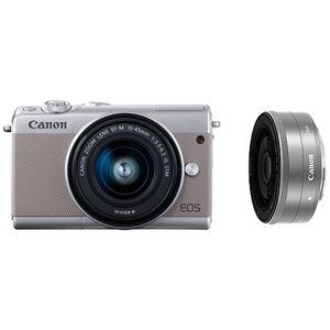 キヤノン ミラーレスカメラ EOS M100・ダブルレンズキット (グレー) 2211C034 商品画像