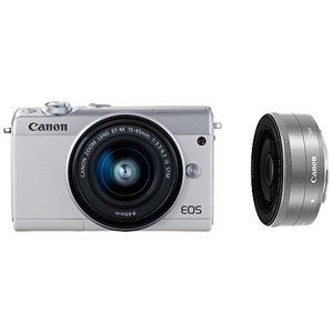 キヤノン ミラーレスカメラ EOS M100・ダブルレンズキット (ホワイト) 2210C034 商品画像
