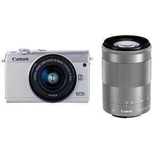 キヤノン ミラーレスカメラ EOS M100・ダブルズームキット (ホワイト) 2210C024 商品画像