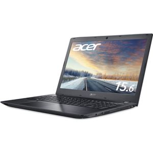 Acer TMP259G2M-A36U/H (Core i3-7100U/16GB/256GSSD/DVD+/-RW/15.6/フルHD/Windows 10 Pro 64bit/1年保証/ブラック/Officeなし) TMP259G2M-A36U/H