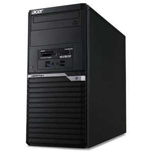 Acer VM4650G-A56XB6 (Core i5-7400/16GB/256G SSD+1TBHDD/DVD+/-RW/Windows 10 Pro64bit/DisplayPortx2/HDMI/VGA/1年保証/ブラック/Office Home&Business2016) VM4650G-A56XB6