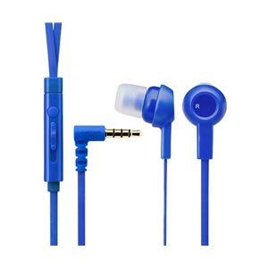 エレコムスマートフォン用ステレオヘッドホンマイク/3.5φ4極/カナル/ブルーEHP-CS3520MBU