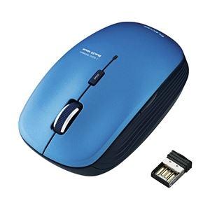 エレコム ワイヤレスBlueLEDマウス/5ボタン/ブルー M-BL21DBBU