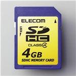 エレコム SDHCメモリカード 4GB/Class4対応 MF-FSDH04G