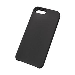 エレコム iPhone SE/5s/5用シリコンケース/ノーマル/液晶保護フィルム付/ブラック PS-A12SCBKN