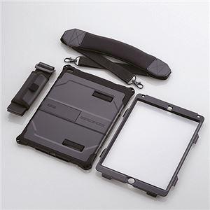 エレコム iPad Air 2用ベルト付ZEROSHOCKハードケース/ブラック TB-A14HVBK