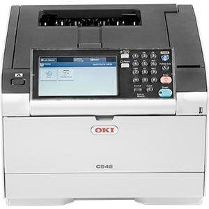 OKIデータ 【5年間無償保証/メンテナンス品無償提供】A4カラーLEDプリンタ 大型タッチパネル付モデル C542DNW