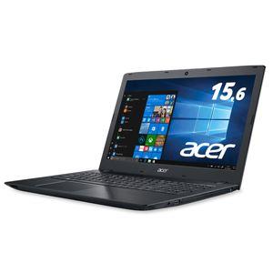 Acer Aspire E 15 E5-576-F58U/K (Core i5-7200U/8GB/256GBSSD/DVD±R/RWドライブ/15.6型/Windows 10Home(64bit)/Officeなし/オブシディアンブラック)
