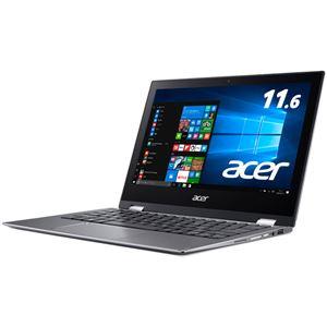Acer Spin 1 SP111-32N-A14P (Celeron N3350/4GB/64GBeMMC/ドライブなし/11.6/IPS 光沢パネル/Windows 10Home(64bit)/Officeなし/スチールグレイ)